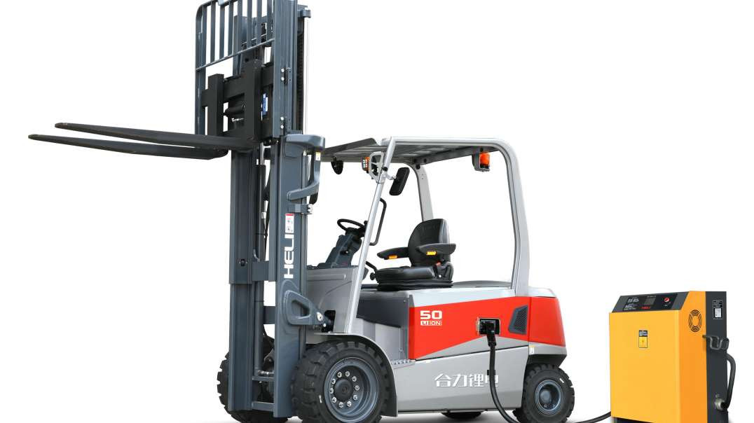 Xe nâng điện ngồi lái HELI - Bản 5 tấn